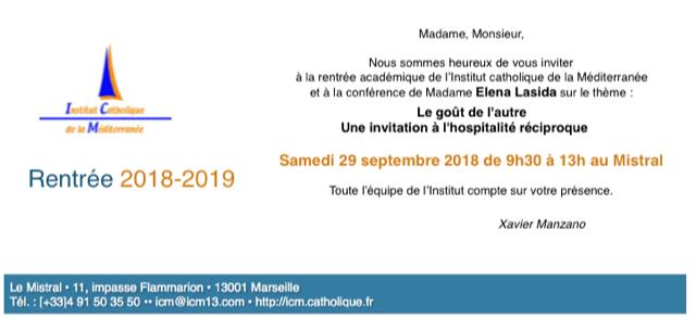 carton invitation rentrée acad 2018